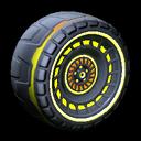 Spiralis wheel icon saffron
