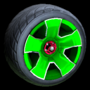 Fireplug wheel icon forest green