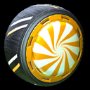 Peppermint wheel icon orange