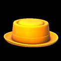 Pork pie topper icon orange