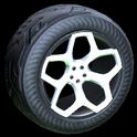 Spyder wheel icon titanium white