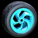 Vortex wheel icon sky blue
