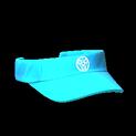 Visor topper icon sky blue