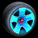 Fireplug wheel icon sky blue