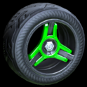 Invader wheel icon forest green