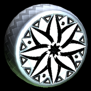 Mandala wheel icon titanium white
