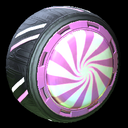 Peppermint wheel icon pink