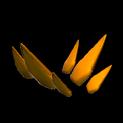 Stegosaur topper icon burnt sienna