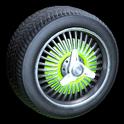 Lowrider wheel icon lime