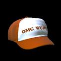 Trucker hat topper icon burnt sienna