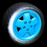 Jurassic Jeep Wrangler wheel icon - blue team