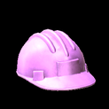 Hard hat topper icon pink