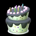 Birthday cake topper icon black