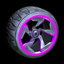Chakram wheel icon purple