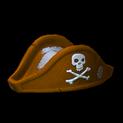 Pirates hat topper icon burnt sienna