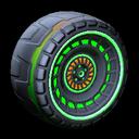 Spiralis wheel icon forest green
