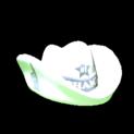 Foam hat topper icon titanium white