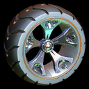 Wrench-Roller wheel icon burnt sienna