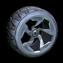 Chakram wheel icon black