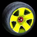 Fireplug wheel icon saffron
