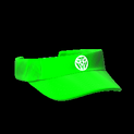 Visor topper icon forest green