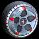 Diomedes wheel icon crimson