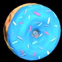 Doughnut wheel icon sky blue