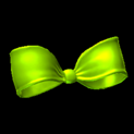 Little bow topper icon lime