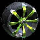 Picket wheel icon lime