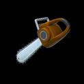 Chainsaw topper icon burnt sienna