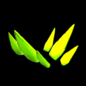 Stegosaur topper icon lime
