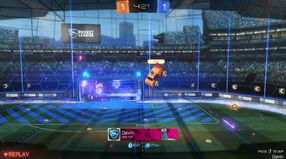 Player banner goal replay