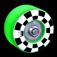 Sk8ter wheel icon forest green