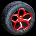 Spyder wheel icon crimson
