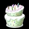 Birthday cake topper icon titanium white