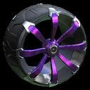 Picket wheel icon purple