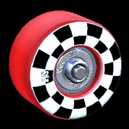 Sk8ter wheel icon crimson