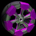 Clodhopper wheel icon purple