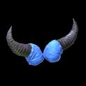 Devil horns topper icon cobalt
