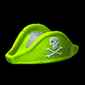 Pirates hat topper icon lime