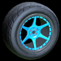 Neptune wheel icon sky blue