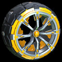 Truncheon wheel icon orange