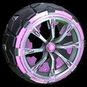 Truncheon wheel icon pink