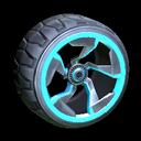 Chakram wheel icon sky blue