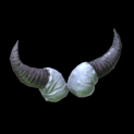 Devil horns topper icon grey