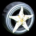 Asterias wheel icon titanium white