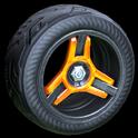 Invader wheel icon orange