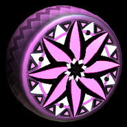 Mandala wheel icon pink