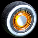 Ratrod wheel icon orange
