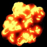 Toon Flame rocket boost icon